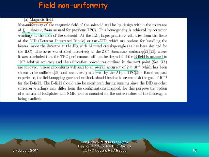 Field non-uniformity