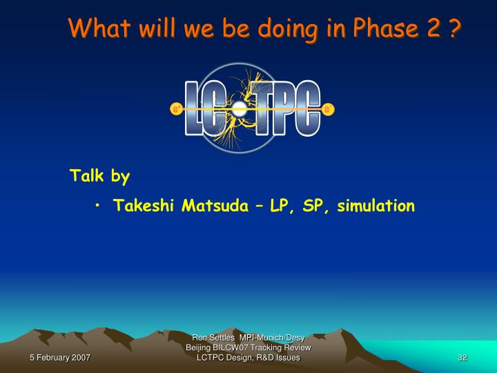 What will we be doing in Phase 2 ?