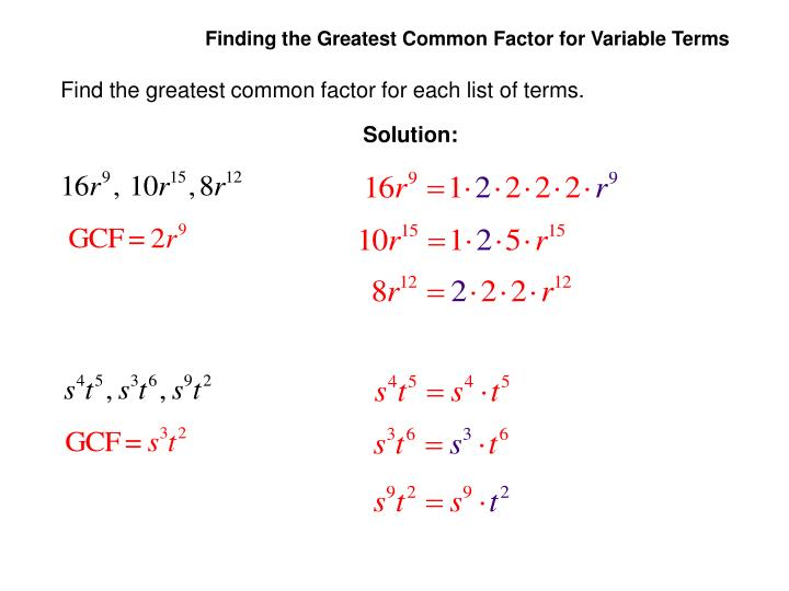 Ppt The Greatest Common Factor Factoring By Grouping Powerpoint