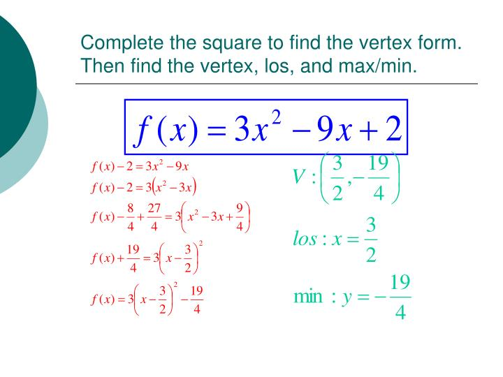Ppt Completing The Square Powerpoint Presentation Id5686140