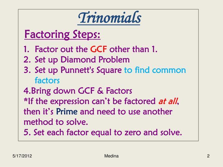 Solving Quadratic Equations By Factoring Diamond Method