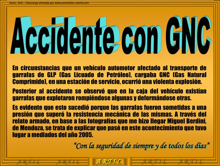 Accidente con GNC
