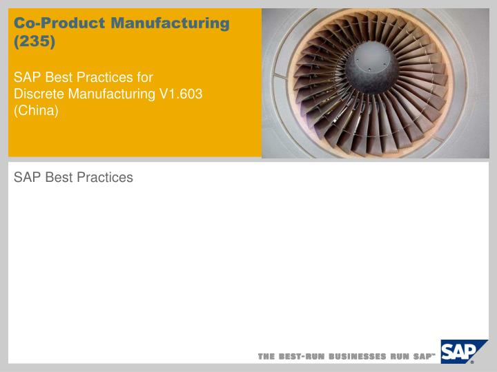 co product manufacturing 235 sap best practices for discrete manufacturing v1 603 china n.
