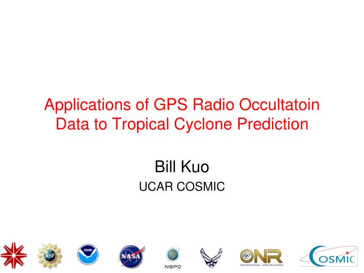 applications of gps radio occultatoin data to tropical cyclone prediction n.