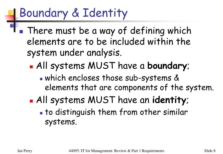 Boundary & Identity
