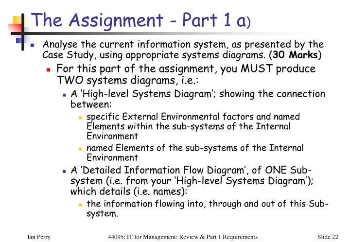 The Assignment - Part 1 a