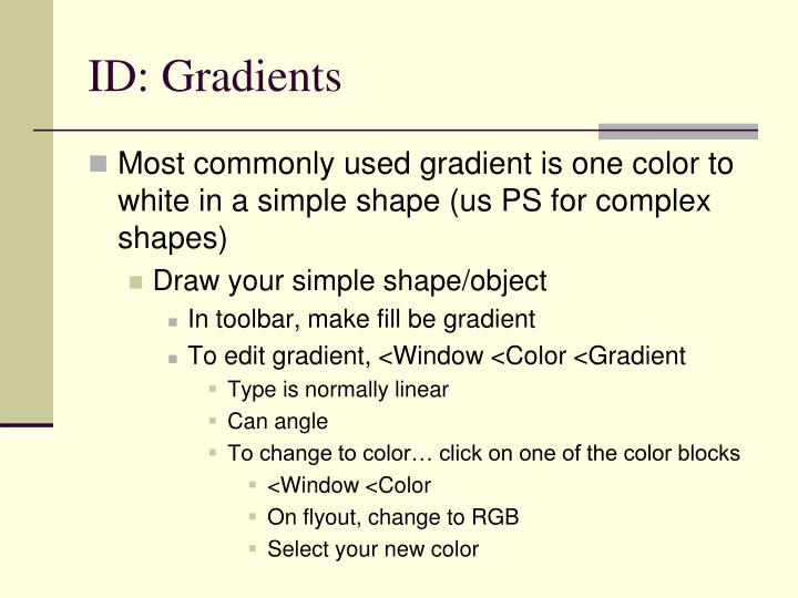 ID: Gradients