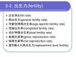 3 2 fertility