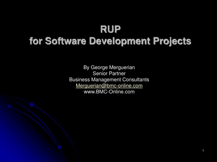 rup for software development projects n.