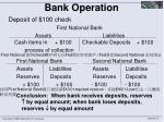 bank operation1
