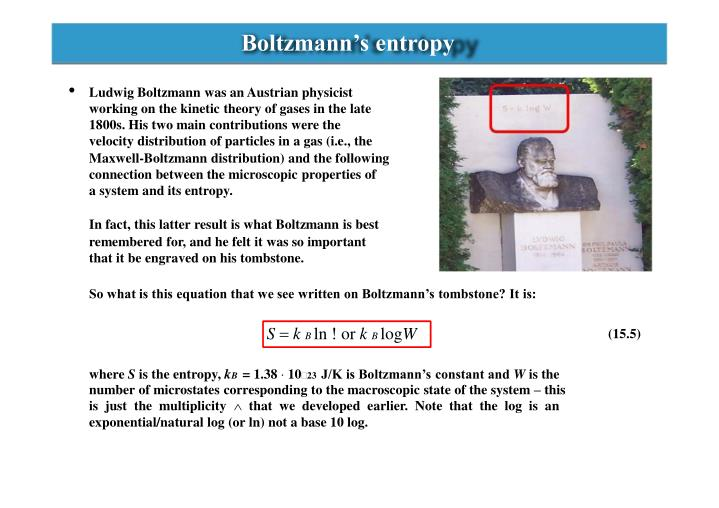 Boltzmann's entropy