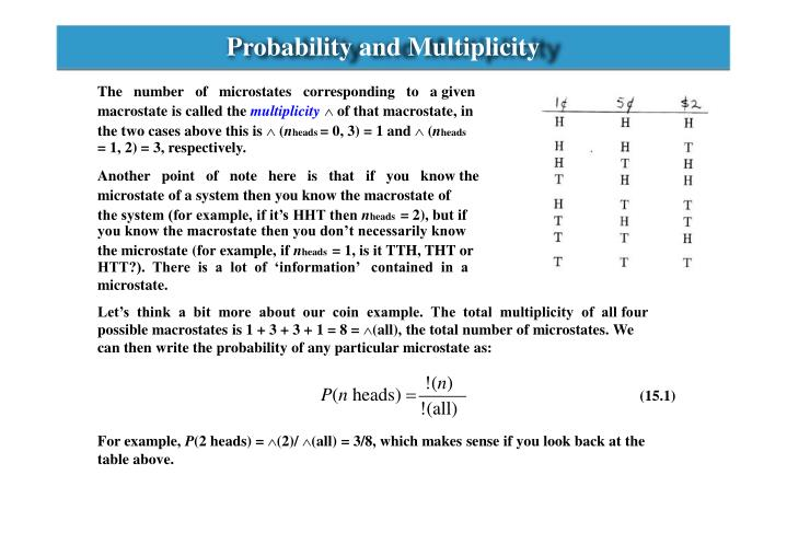 Probability and Multiplicity