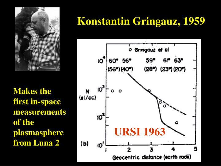 Konstantin Gringauz, 1959