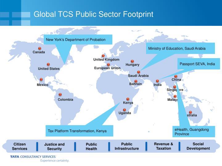 Global TCS Public Sector Footprint