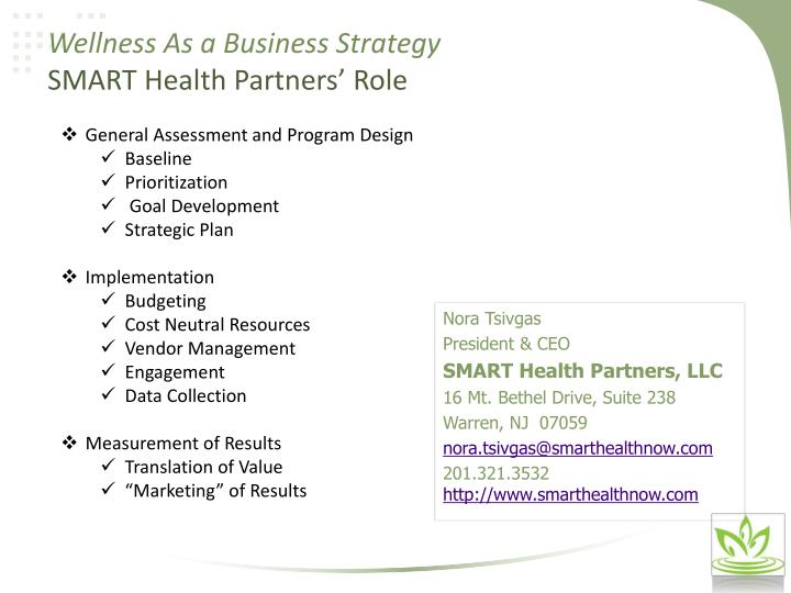 Wellness As a Business Strategy