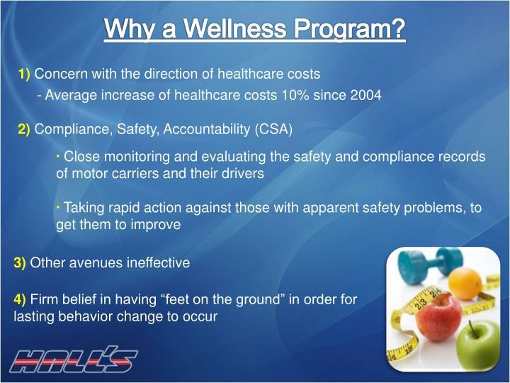 Why a Wellness Program?