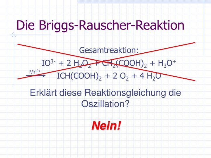 Ppt Oszillierende Reaktion Powerpoint Presentation Id5687321