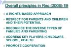 overall principles in rec 2006 19