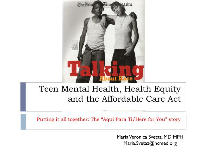 teen mental health health equity and the affordable care act n.