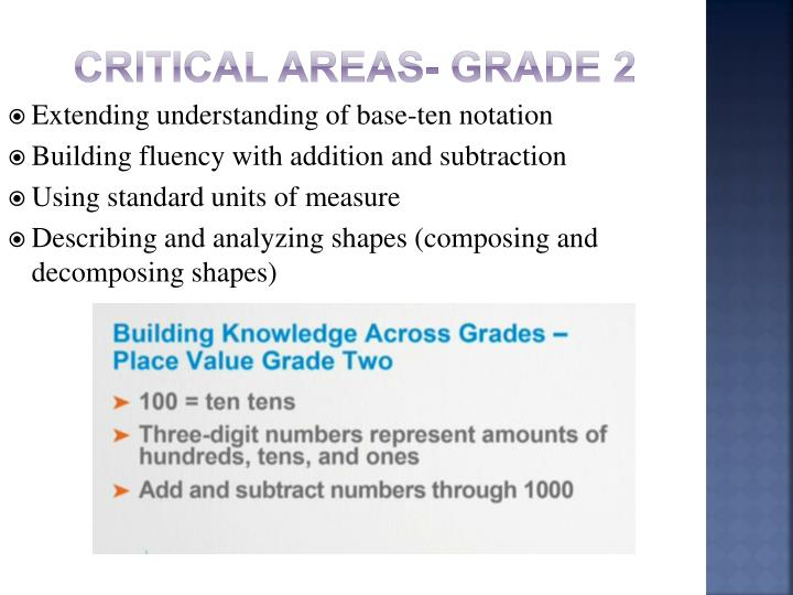 Critical Areas- Grade 2