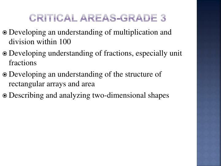 Critical Areas-Grade 3
