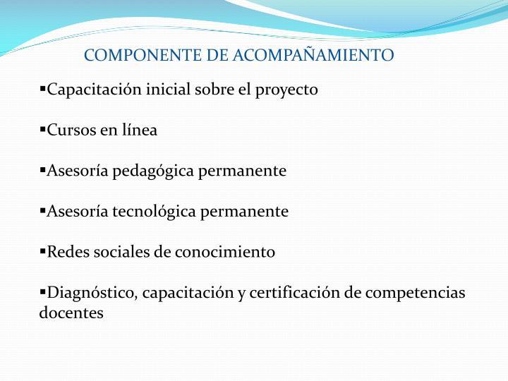 COMPONENTE DE ACOMPAÑAMIENTO
