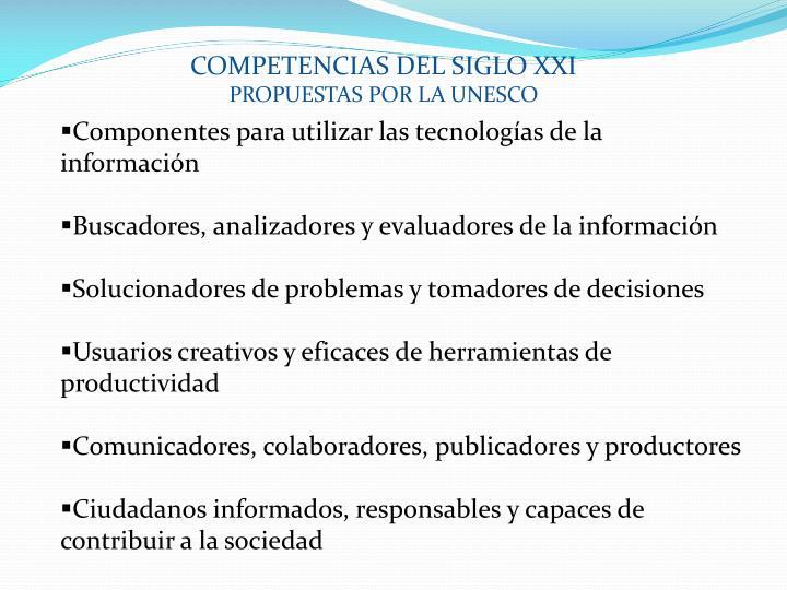 COMPETENCIAS DEL SIGLO XXI