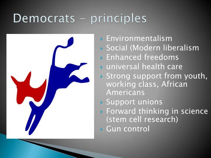 Democrats - principles