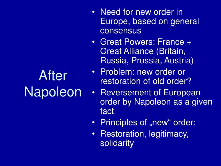 After napoleon