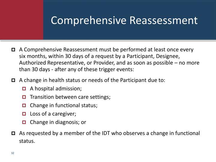 Comprehensive Reassessment
