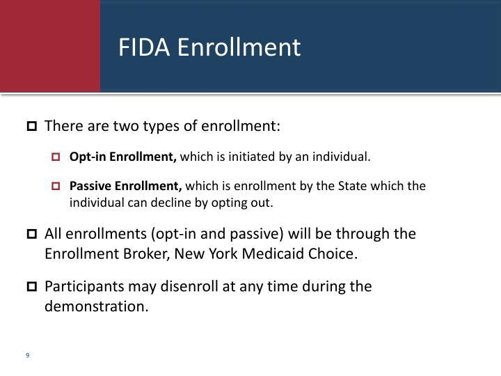 FIDA Enrollment