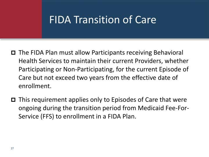 FIDA Transition