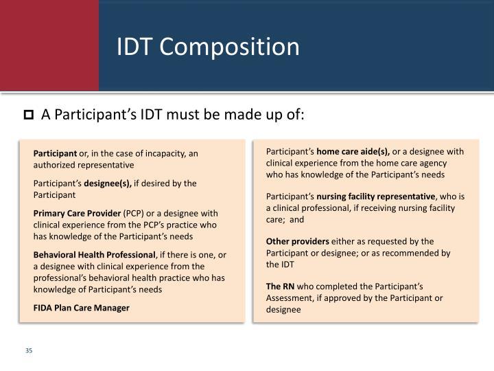IDT Composition
