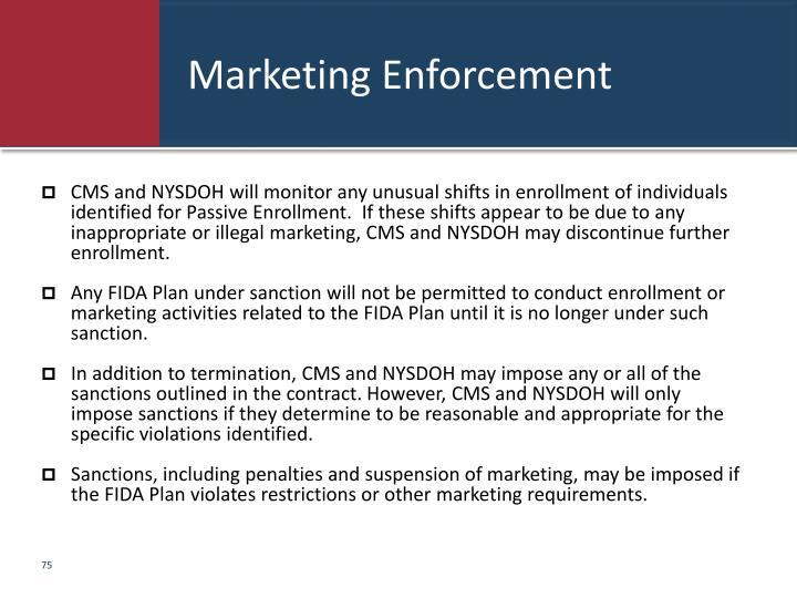 Marketing Enforcement
