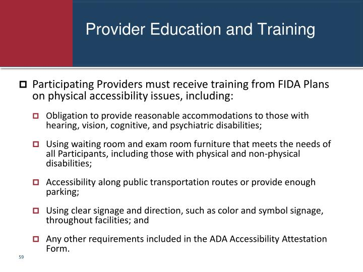 Provider Education and Training