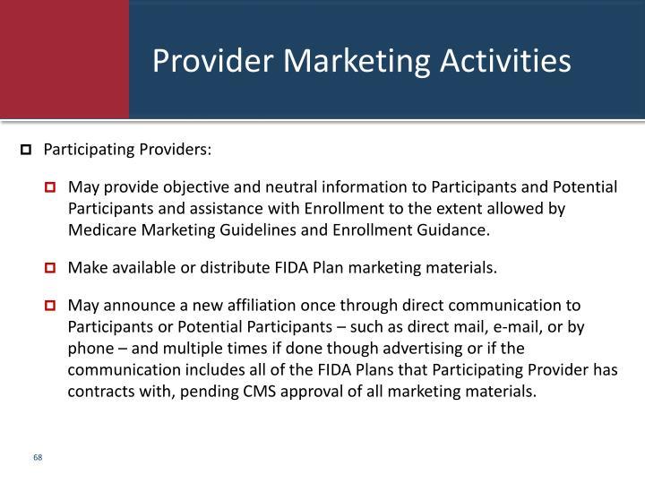 Provider Marketing