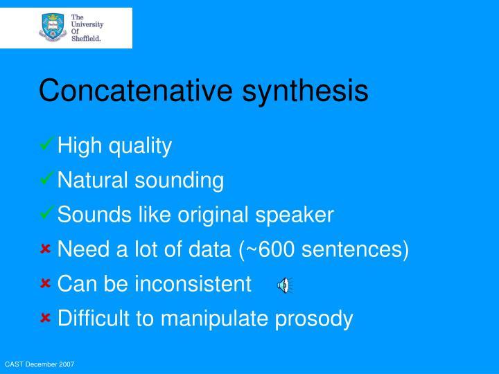 Concatenative synthesis