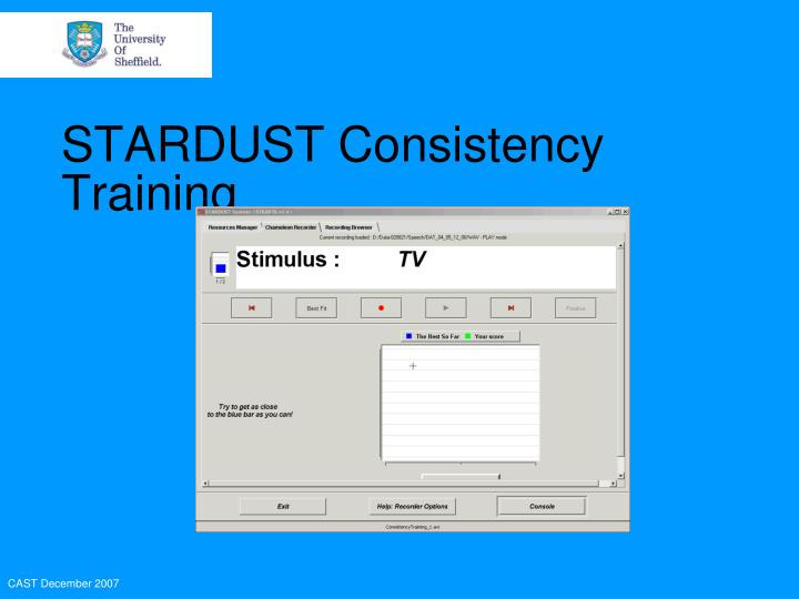 STARDUST Consistency Training