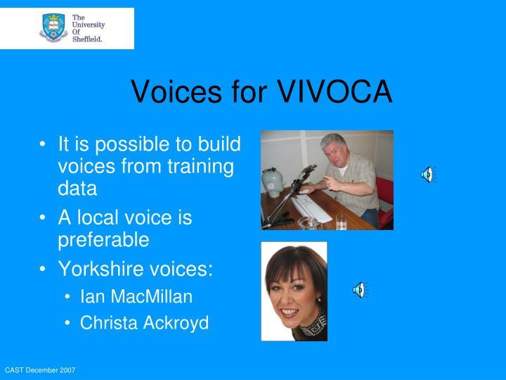 Voices for VIVOCA