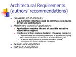 architectural requirements authors recommendations