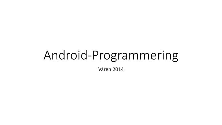 android programmering n.