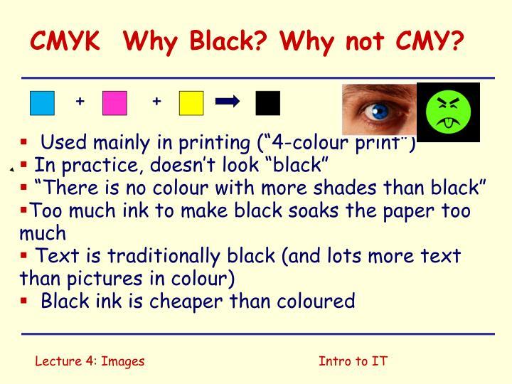 CMYK  Why Black? Why not CMY?