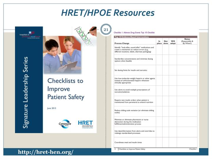 HRET/HPOE Resources