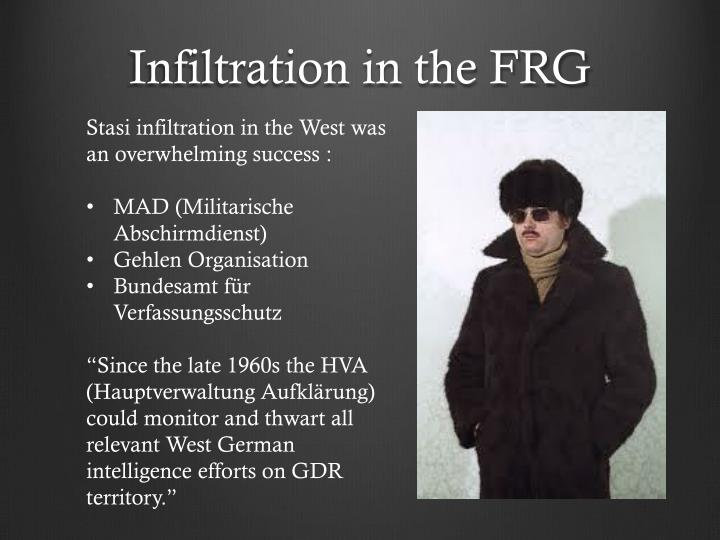 Infiltration in the FRG