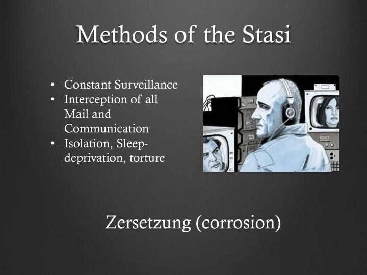 Methods of the Stasi