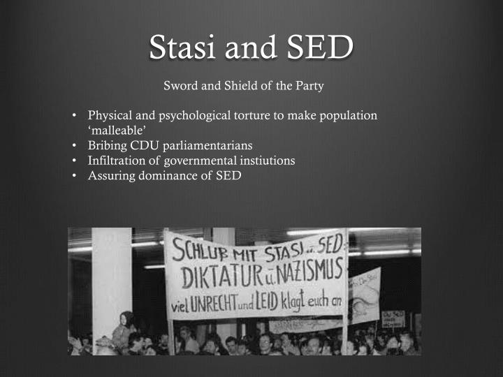 Stasi and SED