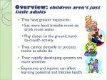 overview children aren t just little adults