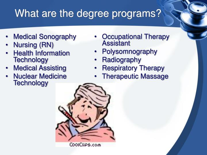 What are the degree programs?