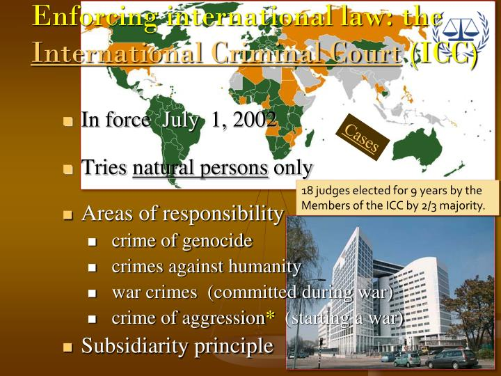 Enforcing international law: the