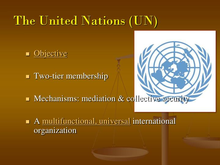 The United Nations (UN)